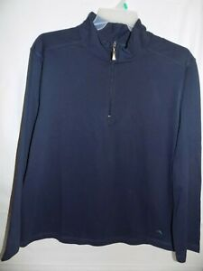 Tommy Bahama Mens Daywear Quarter Zip Pullover Top Navy Blue Size XL $69