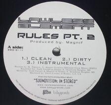 Lawless Element - Rules 2 / Love [New Vinyl]