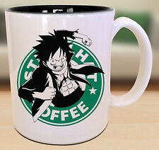 Luffy One Piece Starbucks Anime Manga Japanese Insipred Cartoon Geek Nerd Mug