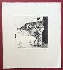 Horst Janssen, Selbstbildnis, Radierung, 1980, handsigniert