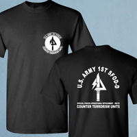 New Delta Force US Army Special Force Navy Seals SFOD-D Black T-Shirt