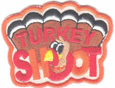 """TURKEY SHOOT"" Iron On Patch Sport Games Competition Gun Rifle Shooting"