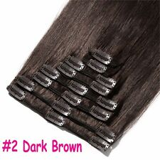 100% Real Remy Human Hair Extensions Full Head Clip in Best Weft Highlight UK L