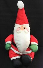 "Santa Claus Red Green Gloves Polyester ANCO Christmas Plush 20"" Vintage 1992 Toy"