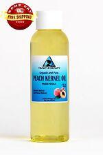 Peach Kernel Oil Organic Cold Pressed by H&B Oils Center Premium 100% Pure 2 Oz