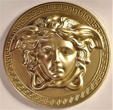 Medusa Kopf (2 Stück) Relief Wandrelief Wand deko 20 cm Wanddeko Gold