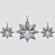 SALE SWAROVSKI 2013 SET annual snowflake (3x) ornament NEW in box !