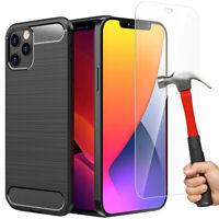 Housse Coque + Verre Trempé Vitre iPhone 12 Mini 12 Pro Max/11/XR/8/7/6S Plus