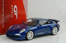 2013 PORSCHE 911 991 Carrera 4s 5 millions likes Facebook Blue 1:18 GT Spirit