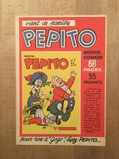 PEPITO numéro 0 (feuille-annonce) - NEUF