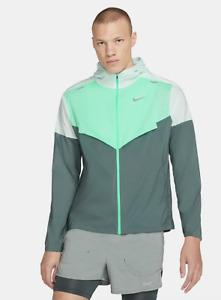 Nike Men's Windrunner Track Running Jacket Barely Green Grey CZ9070-394 Large