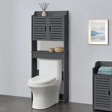 Toilettenschrank Badezimmerschrank Überbauschrank Badschrank Schrank Regal Grau