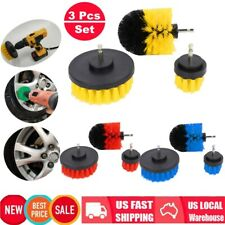 3 Piece Drill Brush Attachment Set All Purpose Power Scrubber Cleaning Kit Home