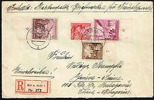 3869 GERMANY TO SWITZERLAND CENSORED REGISTERED COVER 1939 HOF - GENEVE