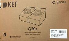 KEF Q Series 2-Way Surround Speakers Pair Q50A Satin Black OPEN BOX 🔥