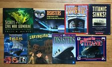 Lot 8 Children's History Books US DISASTERS Titanic Submarines SF Earthquake