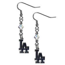 Los Angeles Dodgers Official Mlb Crystal Dangle Earrings By Siskiyou 337598