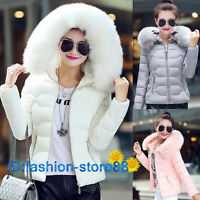 The new autumn and winter coat female short hooded jacket jacket big fur collar