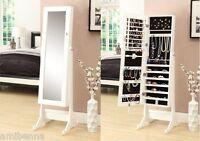 Stand W Tilt Mirrored Jewelry Cabinet Armoire Mirror Organizer