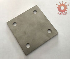 Ankerplatte 100x100x10 Eisenplatte Stahlplatte Stahl Platte Flacheisen      0031