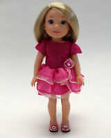 14.5 Inch Doll Clothes Pink Tiered Dress