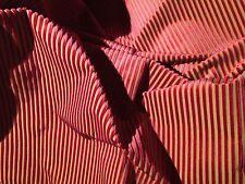 RUBELLI Gershwin Red Velvet Stripe Italy Viscose Cotton New 1+ yards
