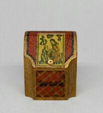 Vintage Antique Chinoiserie Sugar Box Artisan Dollhouse Miniature 1:12