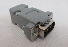 VGA 15 Pin Male D-Sub Plug Solder Connector DB15HD & Hood With Security Screws