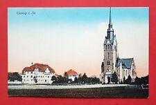 AK COSWIG um 1915 Café Saupe und Kirche   ( 31283