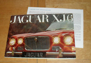 Jaguar XJ6 Series 1 Multilingual Brochue 1970 With Specification Sheet
