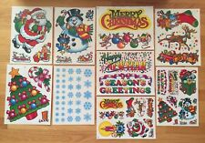 New Set Static Cling Christmas Kit Vinyl Window Stickers Decorations Holiday