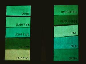 Craft Jones Glow in the Dark Fabrics - Fat Quarter - 10 Different Colours