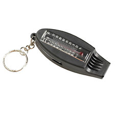 4IN1 Compass Thermometer Whistle Magnifier Versatile with Keychain Travel Tools