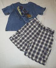 Baby Calvin Klein plaid shorts blue T shirt set 24 M Months boy's outfit 3672177