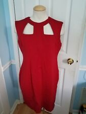 Cache Red Cut Out Front Dress. 12      #10100