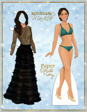 Meghan Markle Paper Dolls - Ltd. Edition by Cory Jensen - includes wedding gown!