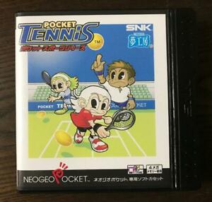 Neo Geo Pocket Tennis Game Software with case and manual Japan Used E+ Condition