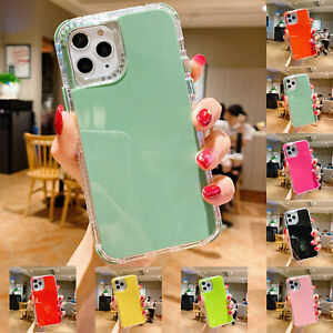 For iPhone 11 12 Pro Max SE 2020 XR Xs 8 3in1 Shockproof Case Cute Hybrid Cover