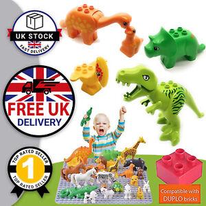 For Duplo Dinosaur T Rex 5 PACK Jurassic Dino World Animal Figure Diplodocus UK