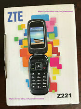 Z221 Flip Phone for T-mobile, Simple Mobile, Ultra Mobile, Mint Mobile and other