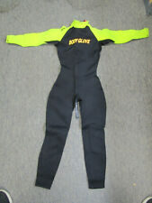 New listing Body Glove Full Body Wetsuit neon yellow womens small S-5 Dive Snorkel Wet Suit