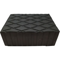 Rubber Load Pad/Rubber Block 60mm Thick For Use With Hoist & Scissor Lifts