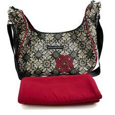 Petunia Pickle Bottom Touring Tote Diaper Bag Granada Nights Black Red Canvas