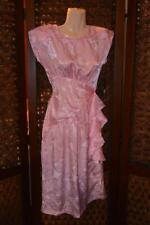 NWT vtg 80s ALL THAT JAZZ New Old Stock Pretty Pink Floral Formfit Retro Dress 3
