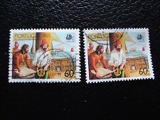 PORTUGAL - timbre yvert et tellier n° 1752 x2 obl (A28) stamp (A)