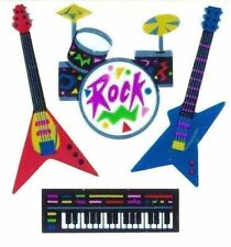 Sandylion Stickers Vintage Collector Foil Rock Roll Guitar Piano Band Music