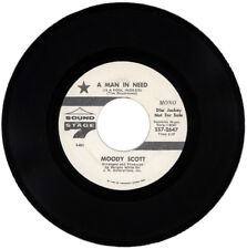 "MOODY SCOTT  ""A MAN IN NEED (IS A FOOL INDEED) c/w GROOVIN' OUT ON LIFE""   DEMO"