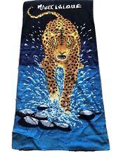 Vintage Martinique Serviette de plage motif léopard 100% coton 78 cm x 148 cm