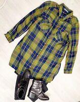 Tu Check Green Mix Shirt Soft Size 20 Collar Long Sleeve Casual