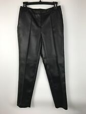 NWT Metaphor Womens Pants Business Casual Leather Like Artistic Black Size 2
